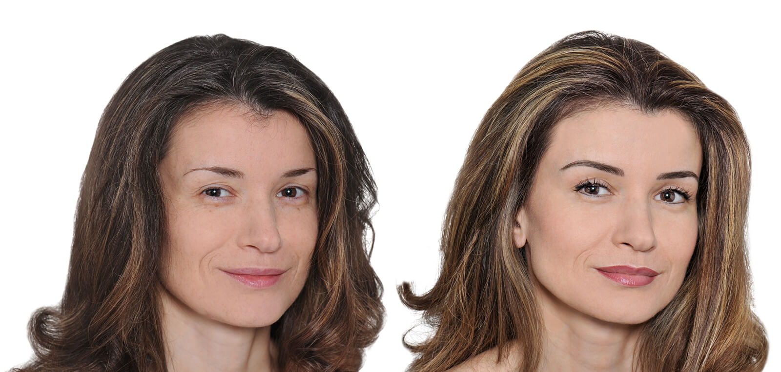Permanent Make-Up vorher/nachher komplett Damen 01 | Der Jungbrunnen Aichach