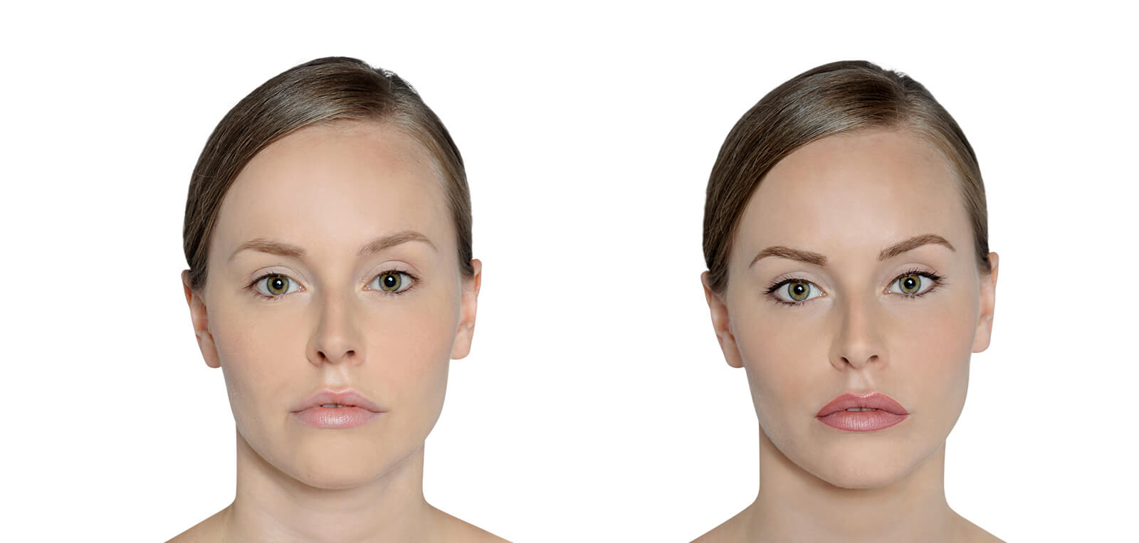 Permanent Make-Up vorher/nachher komplett Damen 04 | Der Jungbrunnen Aichach