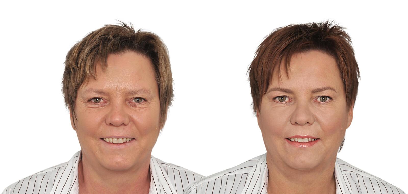 Permanent Make-Up vorher/nachher komplett Damen 03 | Der Jungbrunnen Aichach