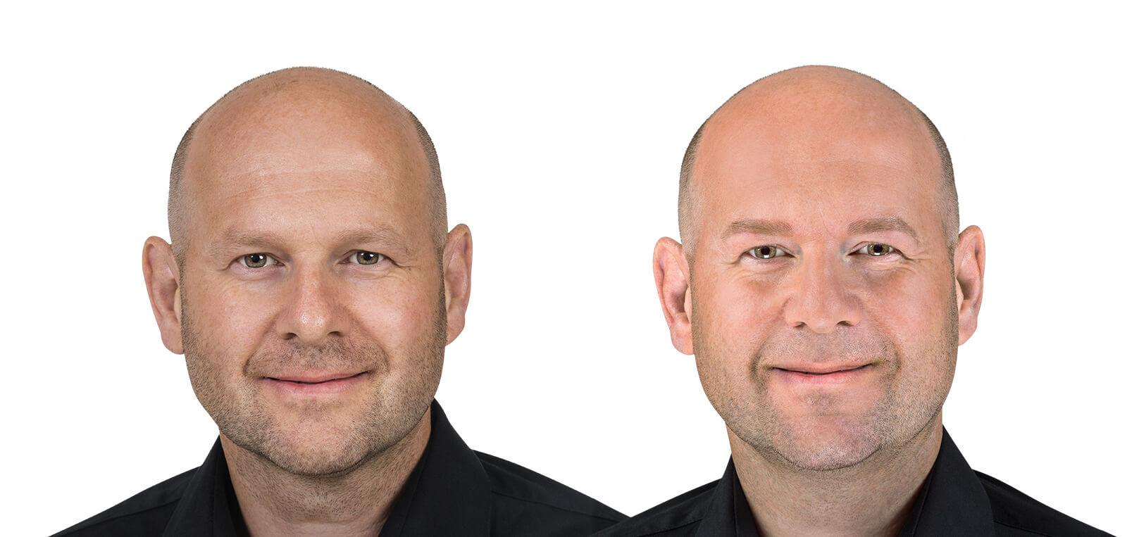 Permanent Make-Up Herren vorher/nachher komplett 02 | Der Jungbrunnen Aichach